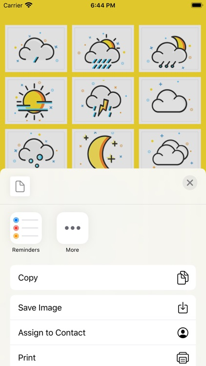 The weather Stickers