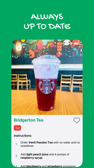 Secret Menu for Starbucks Plus Screenshot