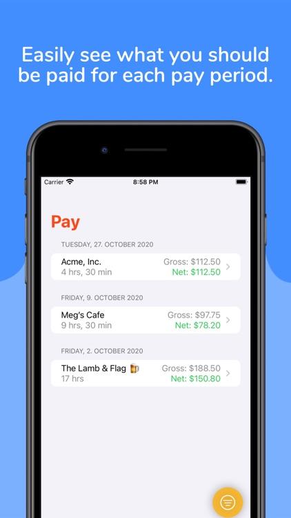 ClockIn - Hours and Pay screenshot-3