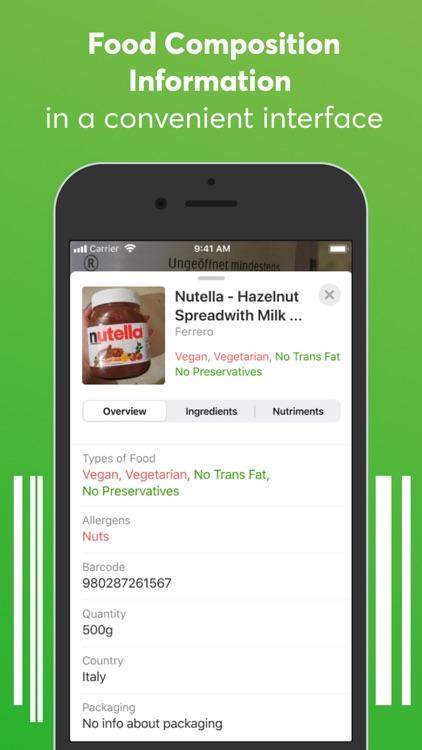 Food scanner: gluten, allergen screenshot-3