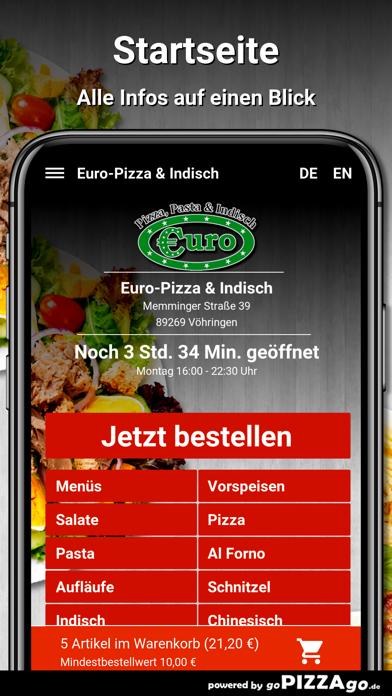 Euro-Pizza & Indisch Vöhringen screenshot 2