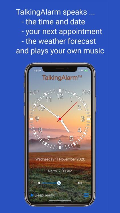TalkingAlarm - alarm clock screenshot-0