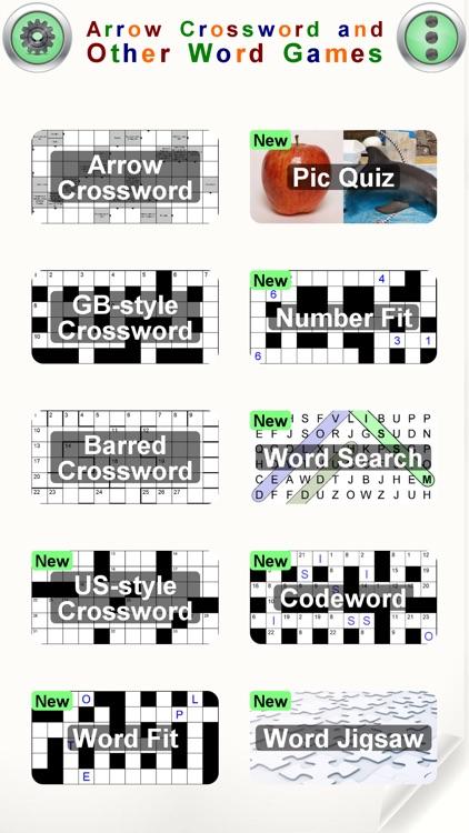 Arrow Crossword & Other Games screenshot-0