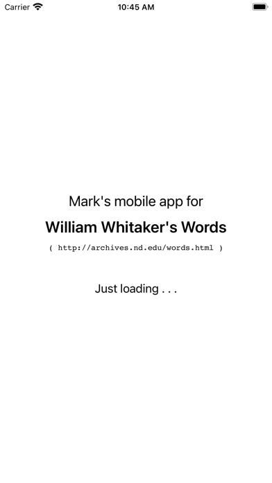 Whitakers Words Reader Screenshot
