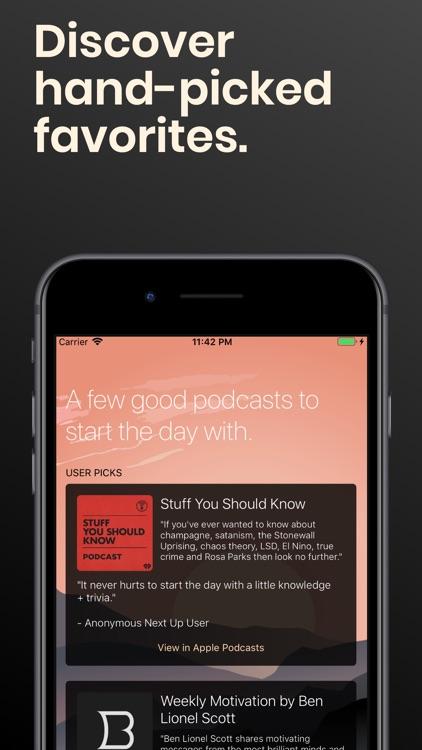 Next Up - A Podcast Alarm screenshot-7
