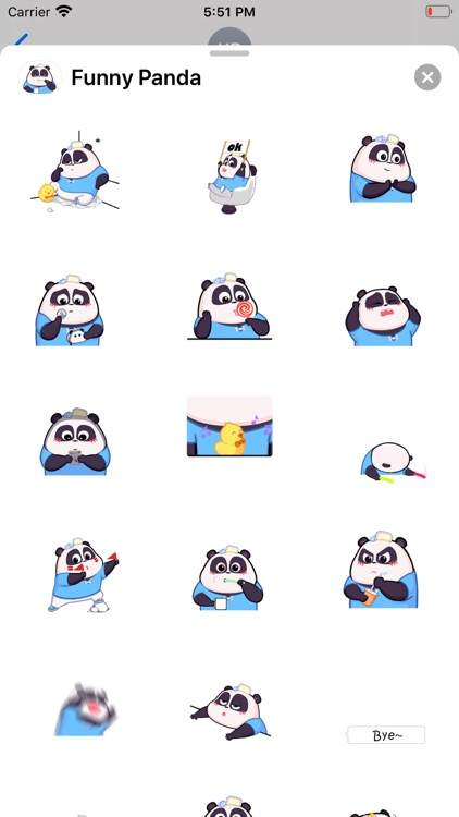 Funny Panda Animated Emoji