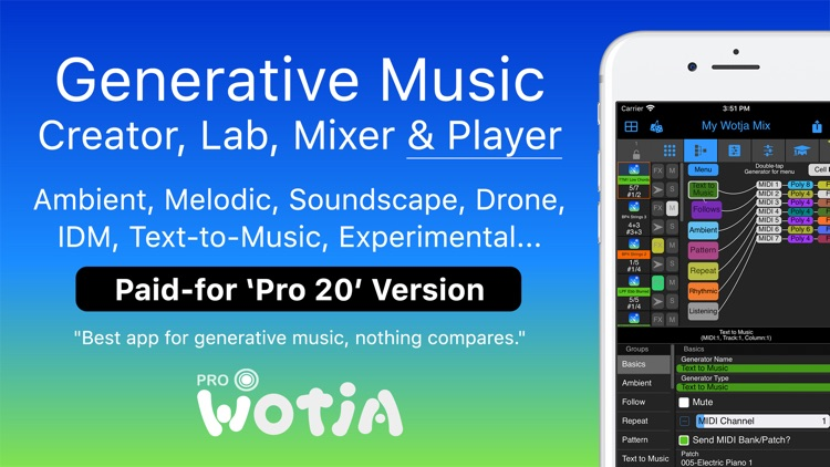 Wotja Pro 20: Generative Music screenshot-0