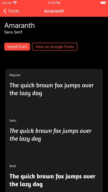Fontastic - Install Fonts screenshot-3