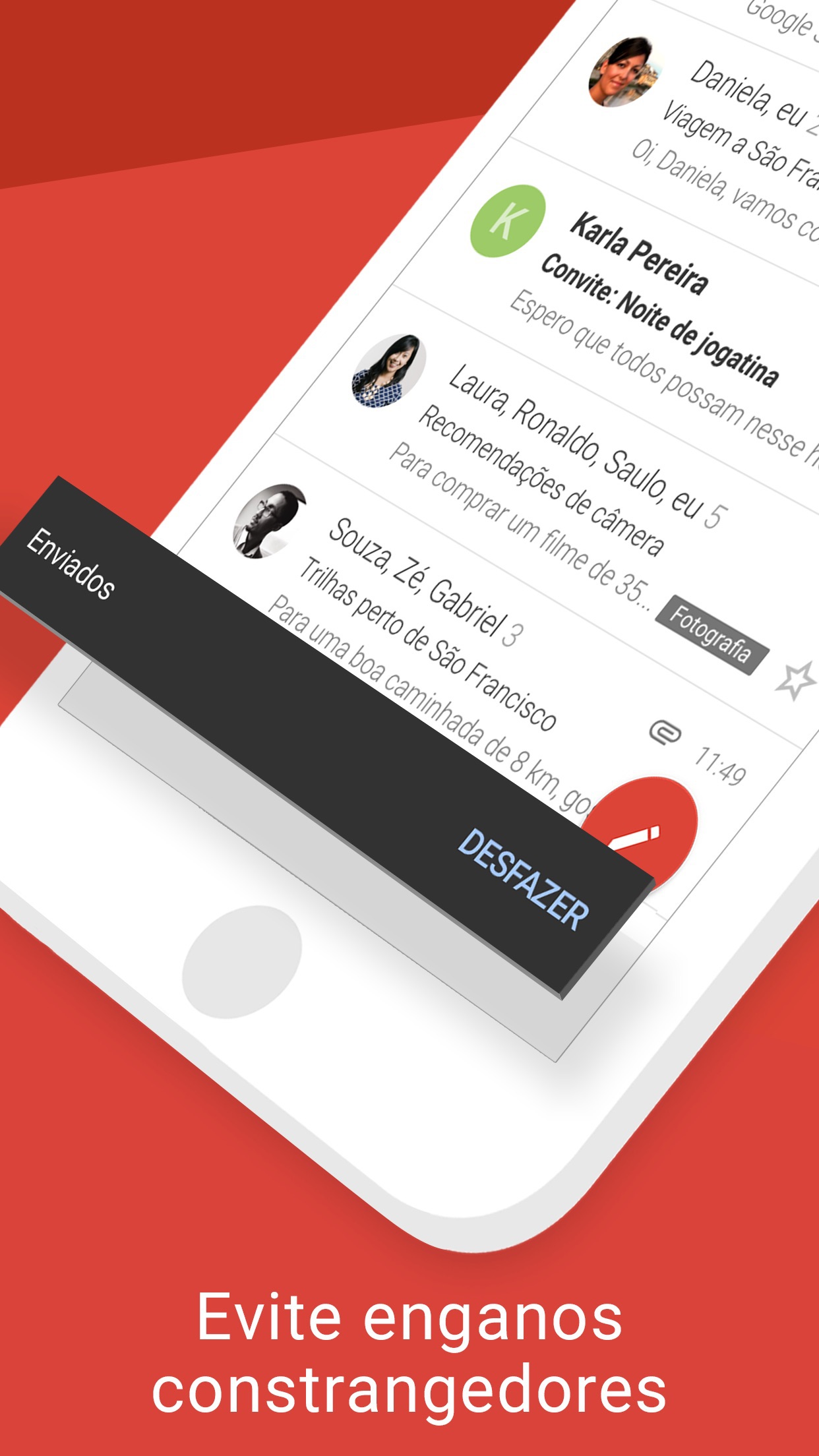 Screenshot do app Gmail: Email do Google