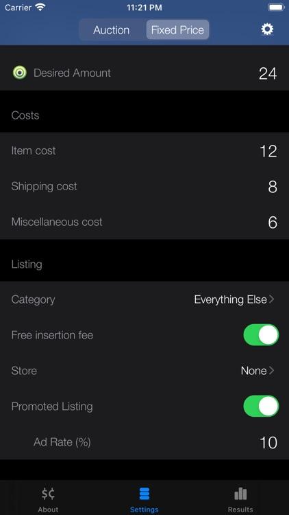 Salecalc for eBay Calculator screenshot-0