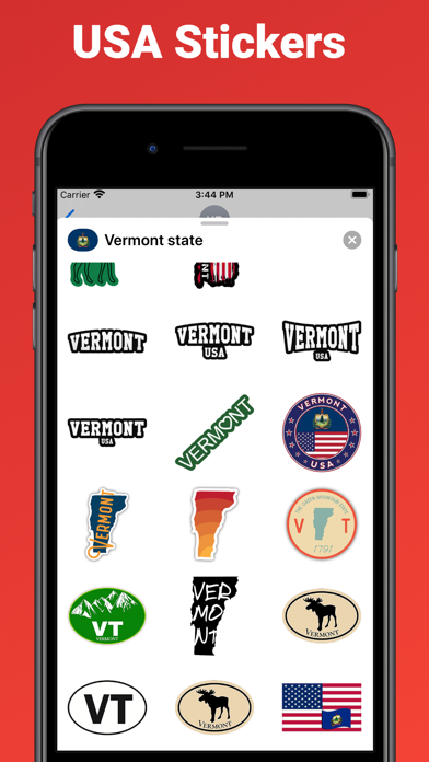Vermont state - USA stickers screenshot 2