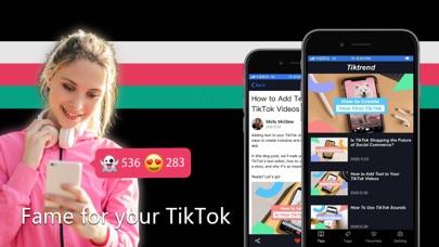 cancel Tiktrend on tik tok likes.fans app subscription image 1
