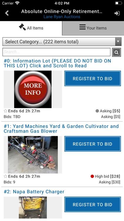 Lane Ryan Auctions screenshot-3