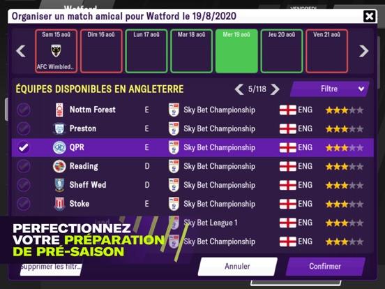 Football Manager 2021 Mobile iPad captures décran