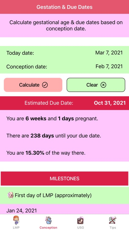 Pregnancy Due Dates Calculator