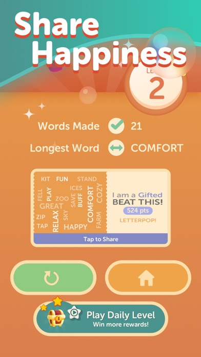 LetterPop - Word Game Screenshot