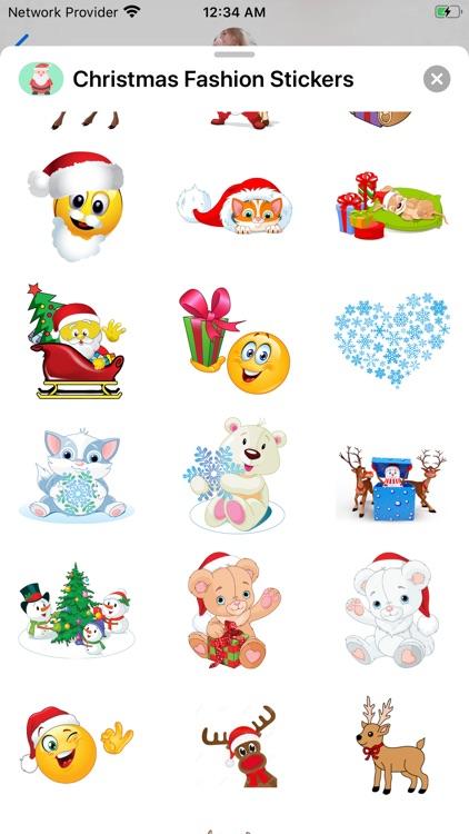 Christmas Fashion Stickers screenshot-3