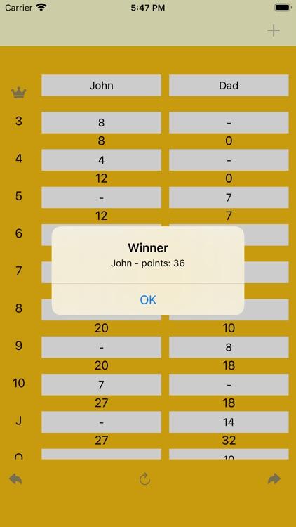 FiveCrowns Scorekeeping App screenshot-3