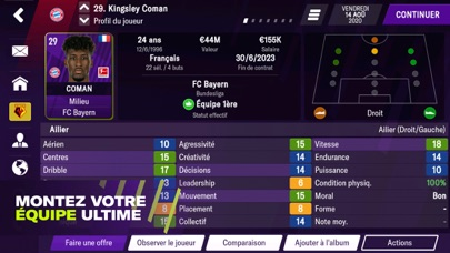 Football Manager 2021 Mobile iphone captures décran