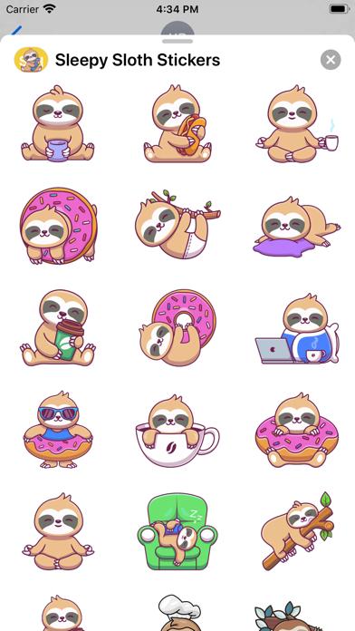 Sleepy Sloth Stickers screenshot 3