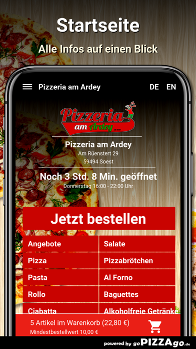 Pizzeria am Ardey Soest screenshot 2