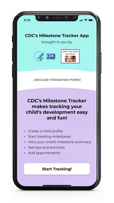 CDC's Milestone TrackerScreenshot of 1