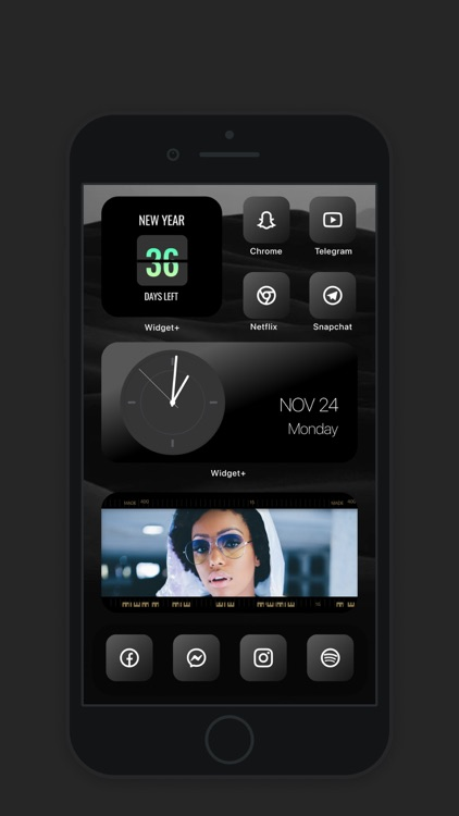 Widget+ icons, themes, custom