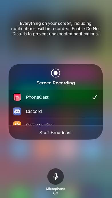 PhoneCast Screenshot