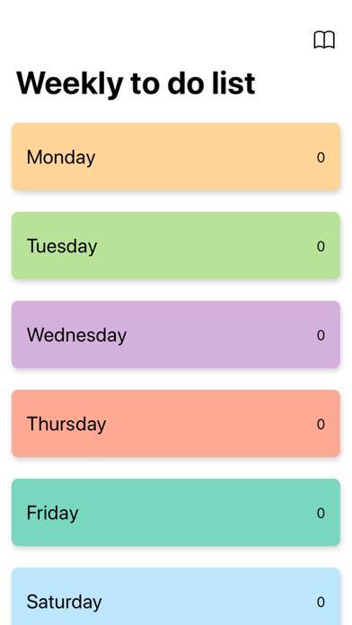 Weekly to do list screenshot #1