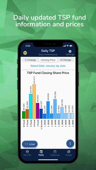 Daily TSP Screenshot