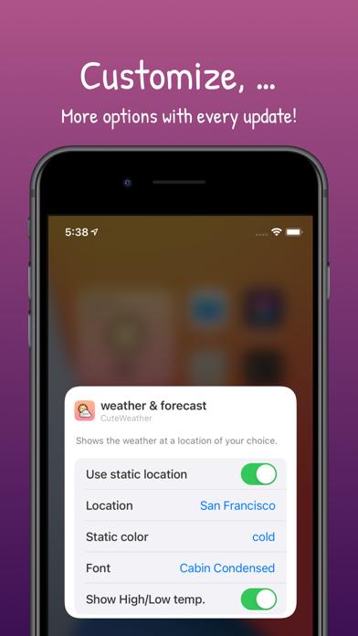 CuteWeather: weather widget Screenshots