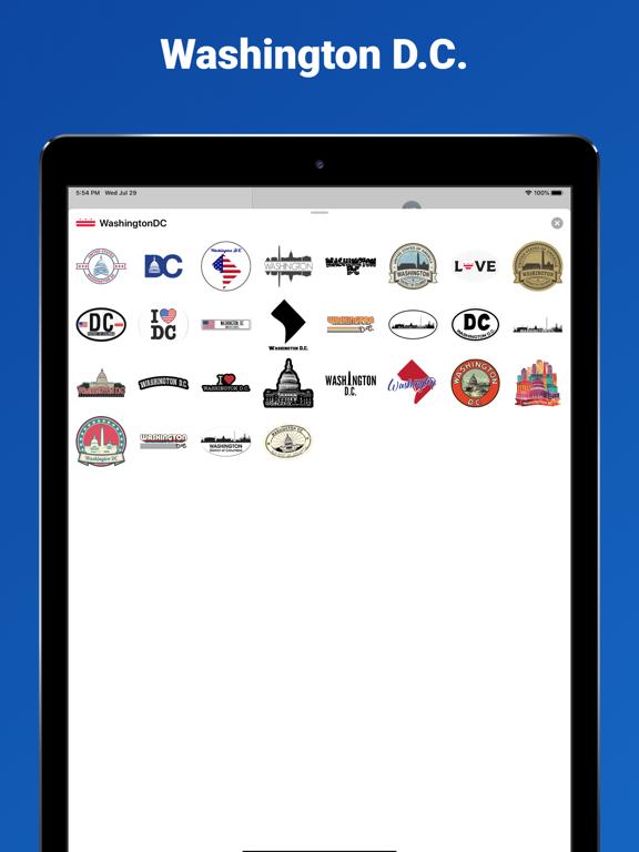 Washington D.C. - USA stickers screenshot 3