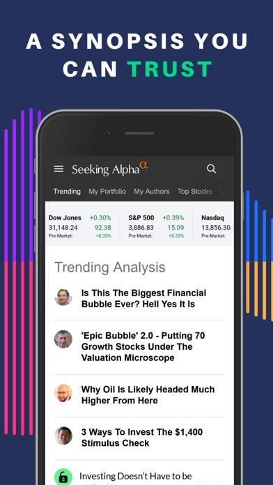 Seeking Alpha: биржа и новостиСкриншоты 3