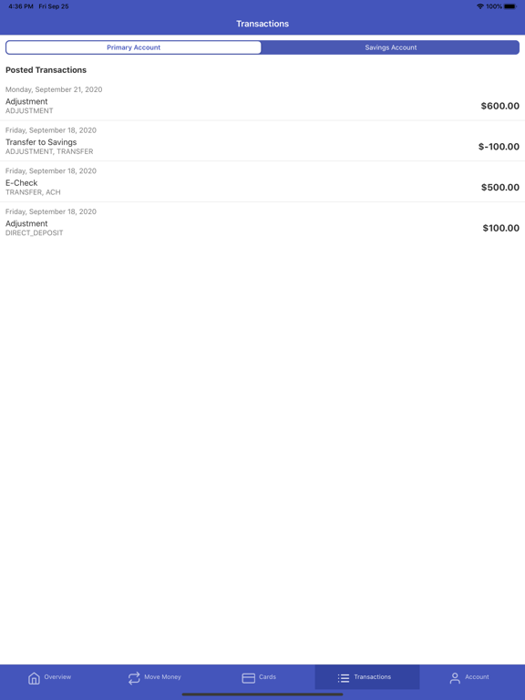Ipad Screen Shot CARD Premium Banking 4