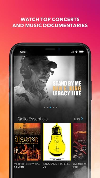 Qello Concerts & Live Music screenshot-0