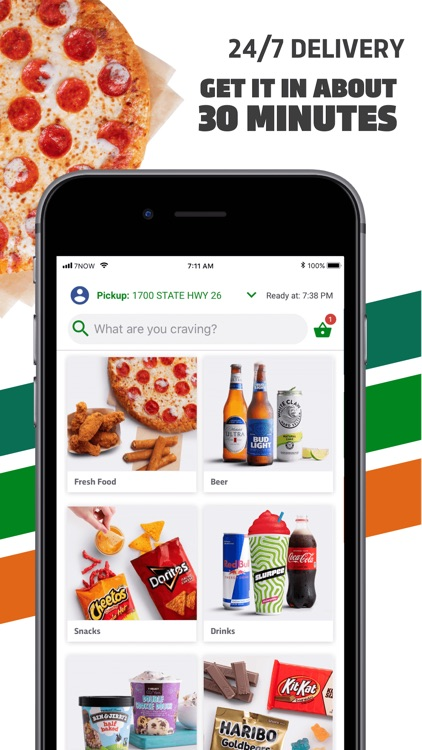 7NOW: Food & Alcohol Delivery