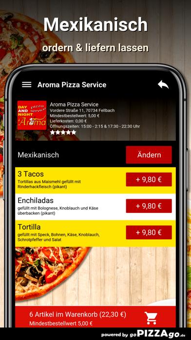 Aroma Pizza Service Fellbach screenshot 6