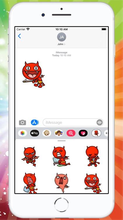 Little Devil Sticker screenshot-3