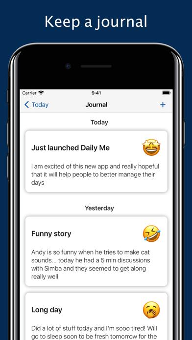 Daily Me: Themes, Tasks, Diary screenshot 3