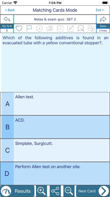 Phlebotomy CPT 5000 flashcards screenshot-4