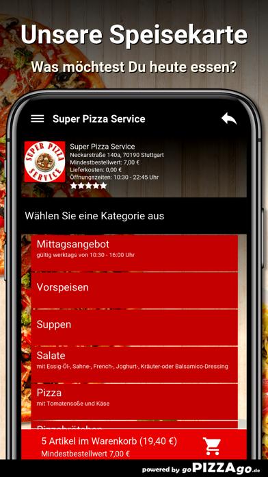 Super Pizza Service Stuttgart screenshot 4