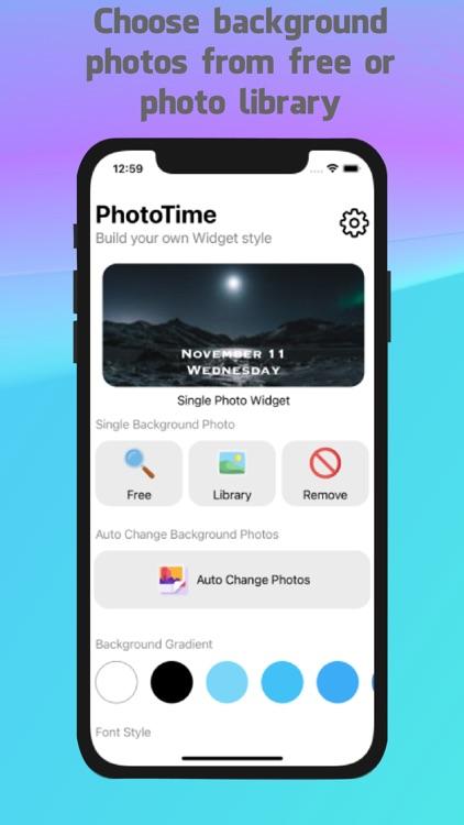PhotoTime - Your style widgets screenshot-5