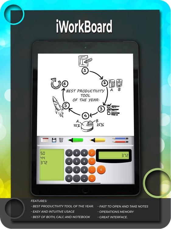 iWorkBoard - Calc & Whiteboard
