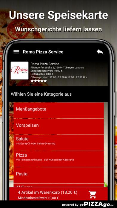Roma Pizza Tübingen Lustnau screenshot 4