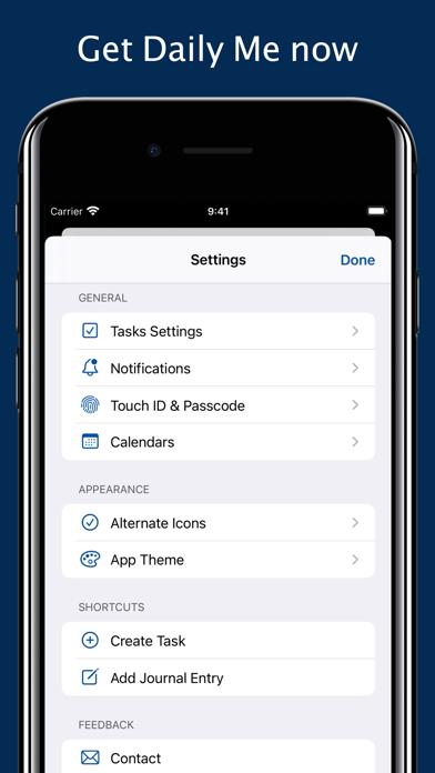Daily Me: Themes, Tasks, Diary screenshot 7