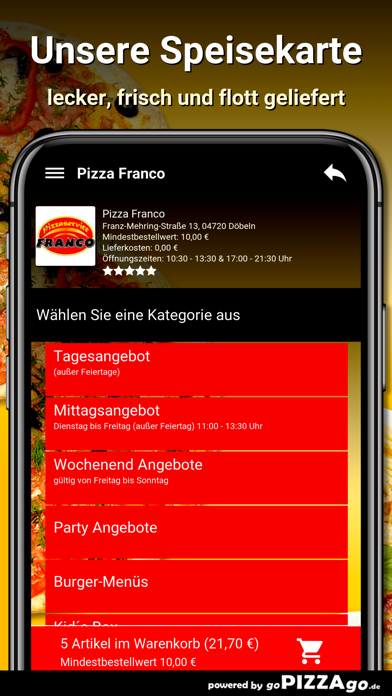 Pizza Franco Döbeln screenshot 4