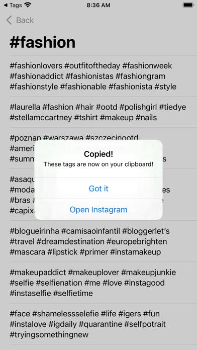 InsTAG - Hashtag for Instagramلقطة شاشة3