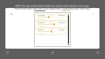 WU: AUPeakLimiter screenshot 2