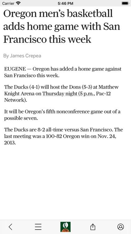 Ducks Basketball News