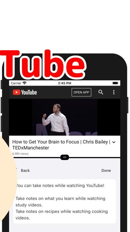 TubeNote - Note watching video